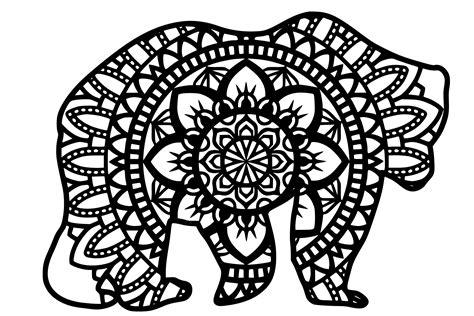 Mandala svg, zentangle svg, hand drawn mandala| svg cut file (ad) #mandalasvg mandala draw mandala artwork mandala animal flower mandala back art logo background scene creator watercolor 3d sunflower mandala layered paper art svg dxf cricut laser #3dmandala #layeredsvg. Bear Mandala SVG (730760) | Cut Files | Design Bundles