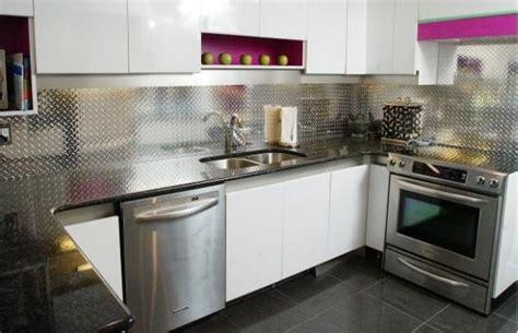 aluminum kitchen backsplash make a statement with a metallic kitchen backsplash 1211