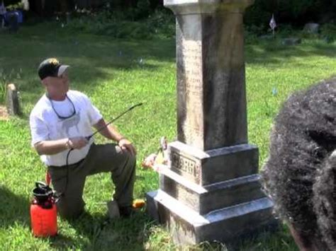 how to clean and restore gravestones