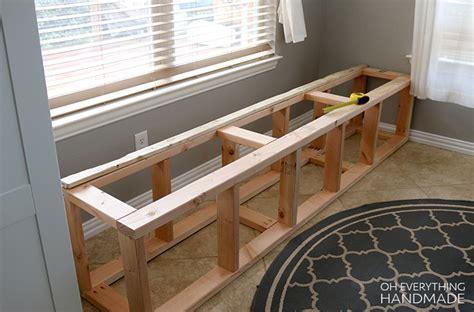 build  kitchen nook bench   handmade
