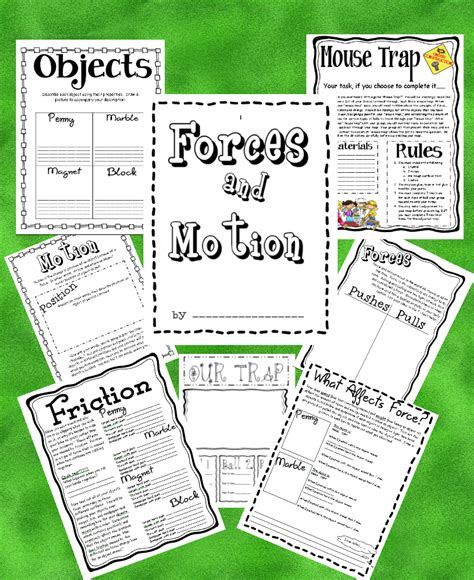 2nd grade science worksheets on and motion 3