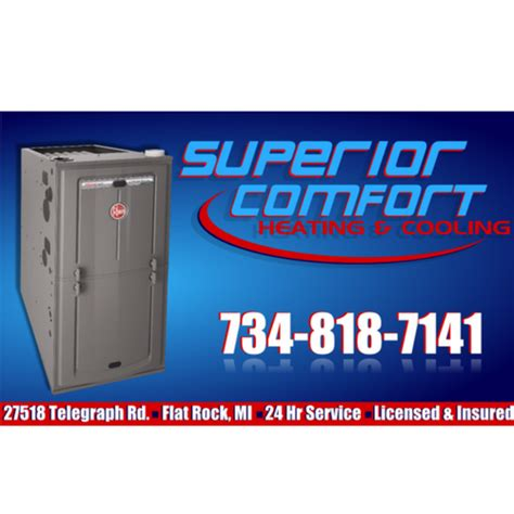 comfort heating and cooling superior comfort heating and cooling in flat rock mi