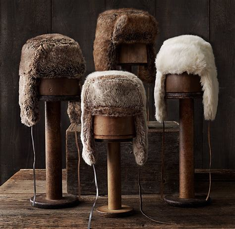 restoration hardware faux fur luxe faux fur russian ushanka hat need something like 4791