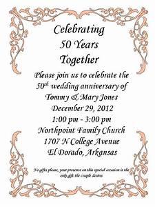 50th anniversary party 50th anniversary party With funny golden wedding invitations