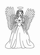 Angel Coloring Engel Guardian Colorear Christmas Printable Ausmalbilder Angeles Malvorlagen Angels Male Adults Pintar Dibujos Drawing Zum Kinder Clip Adult sketch template