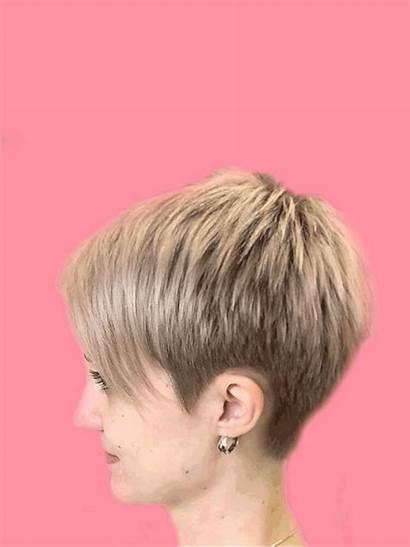 Pixie Platinum Short Hair Hairstyle Cut Haircut