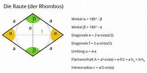 Viereck Winkel Berechnen : rechner raute rhombus matheretter ~ Themetempest.com Abrechnung