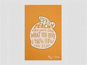 s peachy poster lettering by seanwes