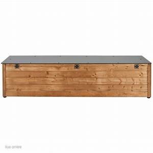 Banquette Coffre Exterieur : coffre banc de jardin l209 x p45 x h45cm neli terrasse ~ Edinachiropracticcenter.com Idées de Décoration