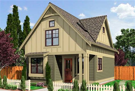 Narrow Cottage Plans by Narrow Lot Cottage 23292jd Architectural Designs