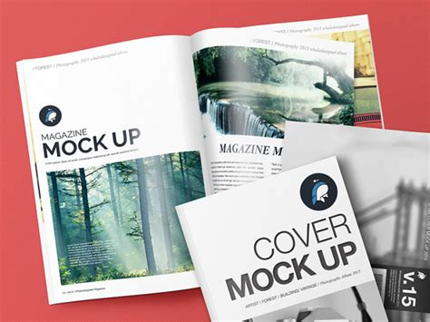 This photoshop file was found from the amazing creator called zippypixels. Magazine and Cover Free Mockup (With images) | Magazine ...