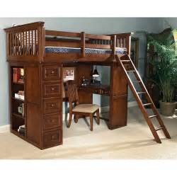 plans for full size loft bed with desk discover