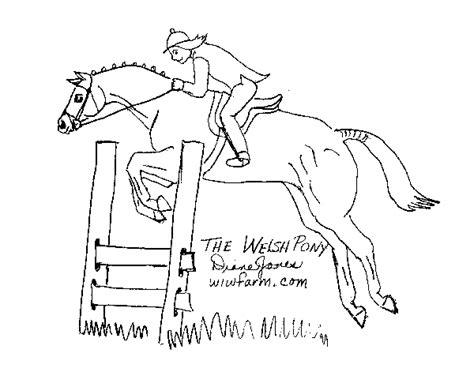 Kleurplaat Paardrijden Springen by Kinderpleinen Paarden Kleurplaten