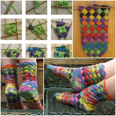 diy rainbow patch knitted socks find fun art projects