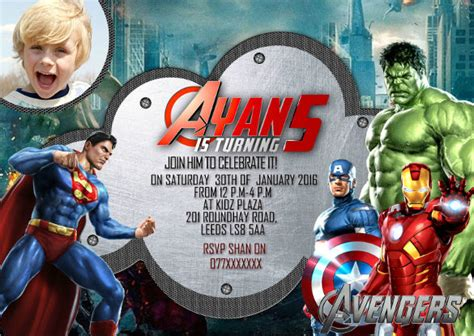 superhero birthday invitation templates  sample