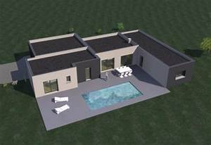 construction 86fr gt plan maison contemporaine de plain With exceptional plan maison en u ouvert 1 plan de maison contemporaine amazone