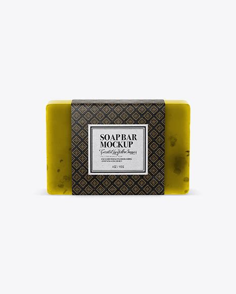 ✓ free for commercial use ✓ high quality images. Soap Bar Mockup in Packaging Mockups on Yellow Images ...