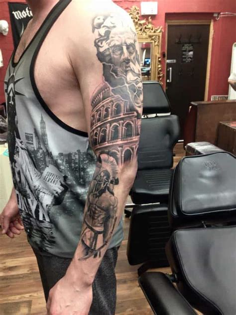roman colosseum arm tattoos birmingham ink tattoo studio