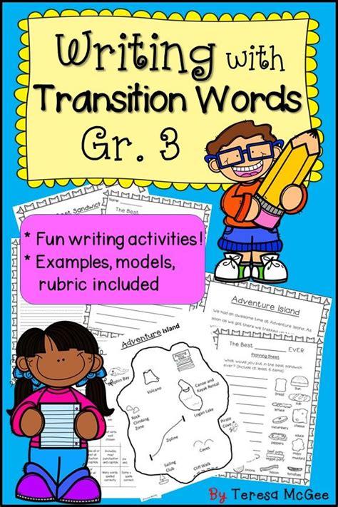 fun writing activities  grade  teach transitions