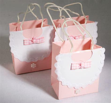 pink bib baby shower favor bags gift bags favor bags