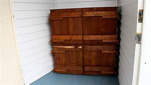 palettes recuperer des palettes de bois meuble utile With fabrication meuble en bois de palette