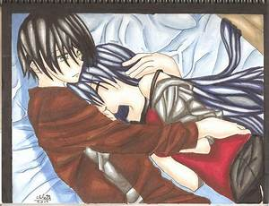 Anime Couple Cuddling in Bed by Borderliningsanity on ...