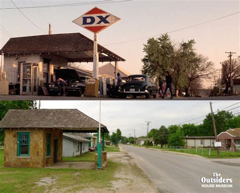 outsiders house  twitter dx gas station sperry