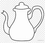 Teapot Template Coloring Tea Pot Clipart Sheets Kettle Clip Wonderland Alice Pages Silhouette Templates sketch template