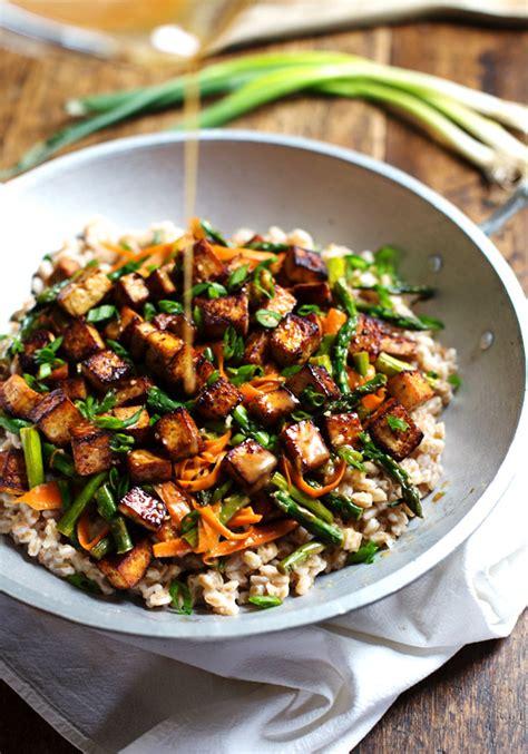 tofu stir fry sesame asian tofu stir fry recipe dishmaps