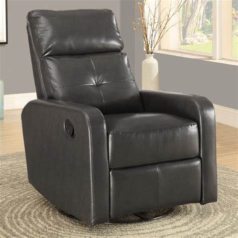 monarch bonded leather swivel glider recliner jet