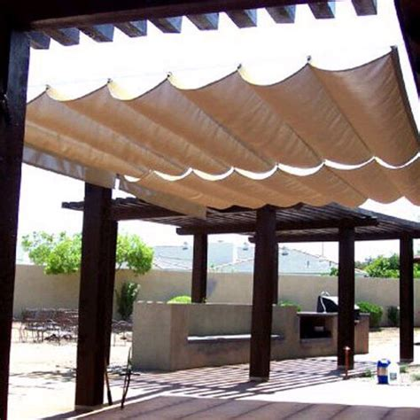 roman sail shade wave canopy cover retractable outdoor patio awning    ebay