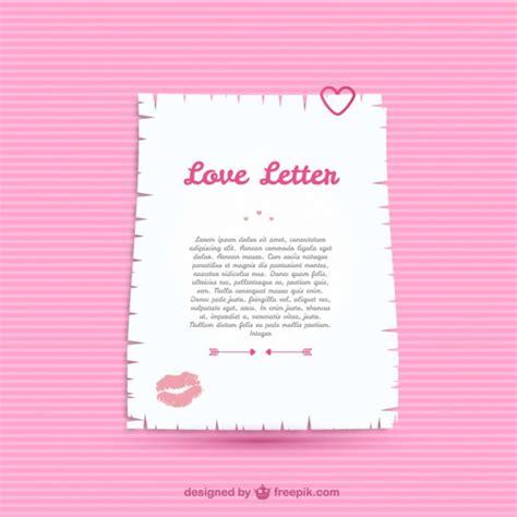 plantilla de carta de amor descargar vectores gratis