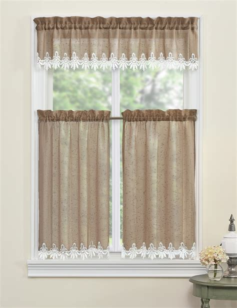 Sears Window Treatments Hardware by Essential Home 54 Quot X 36 Quot Tailored Orchard Tier Home