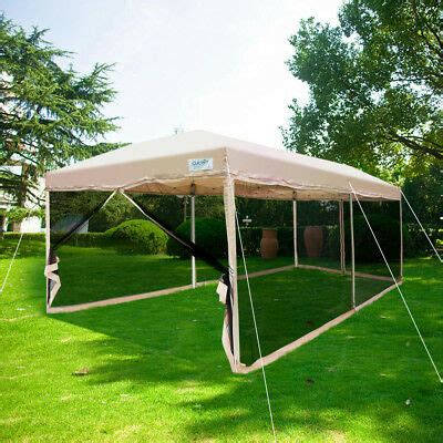 quictent  pop  canopy tent screen house mesh sidewall  netting tan  ebay