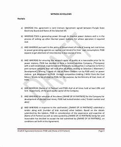 joint venture agreement 9 free word pdf documents With jv agreement template free