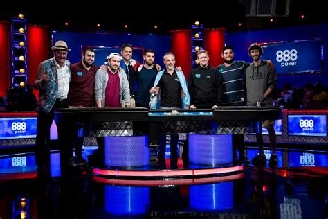 world series of poker final table final table set at 2017 world series of poker main event