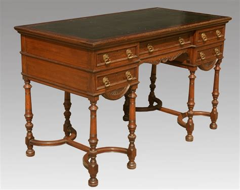 antique writing desks uk carved oak writing desk by gillow co 233581