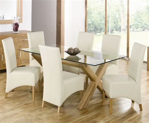 glass dining table luxurious set  perfect dinner