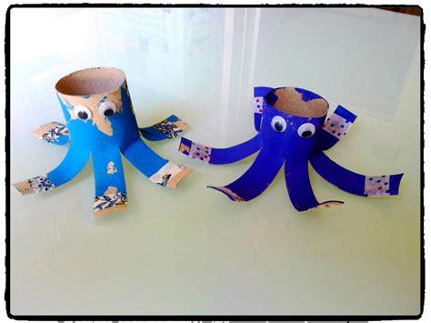 pieuvre en rouleaux de papier toilette oc 233 an mer animaux aquatique bricolage enfant a la