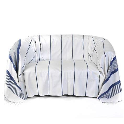 jeté de canapé jeté de canapé rectangulaire 2x3m fond blanc et rayures
