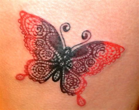 lace butterfly ink  tattoos pinterest