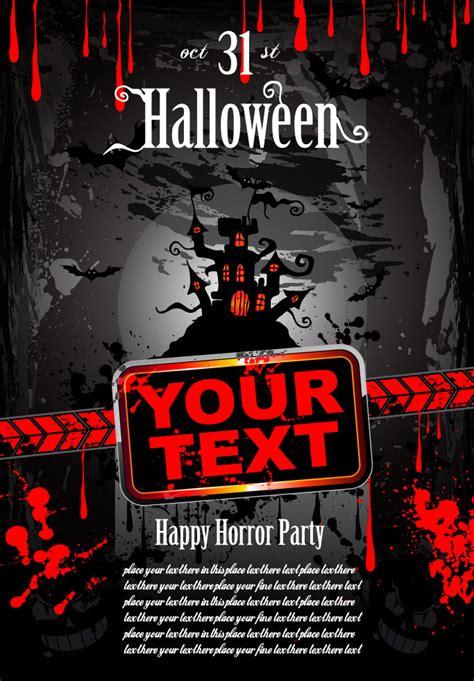 halloween horror poster   eps   vector