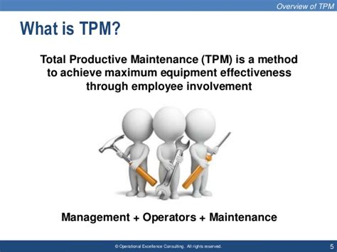 total productive maintenance tpm  operational