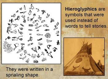native american hieroglyphics flipchart   urbans
