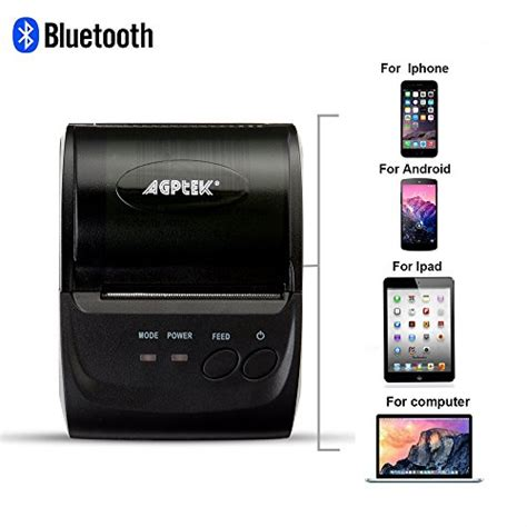 agptek thermal receipt printer impact bluetooth usb