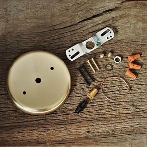 Brass Ceiling Canopy And Hardware Kit For Pendant Lights