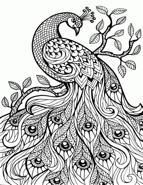 detailed coloring pages detailed animal coloring pages for adults coloring home