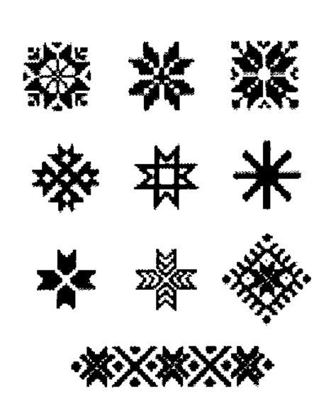 Latviešu senču zīmju kodi apģērbā, tekstila izstrādājumos ...