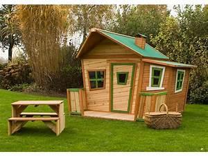 Maisonnette En Bois Castorama : cabane enfant bois lisa x m 39718 ~ Dailycaller-alerts.com Idées de Décoration
