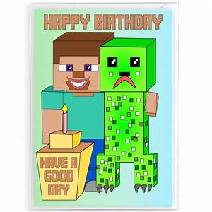 Minecraft Birthday Cards – gangcraft net